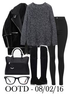 """""""OOTD"""" by elenaday on Polyvore featuring Topshop, H&M, Toast, Stuart Weitzman, Zara, Ray-Ban, women's clothing, women, female and woman"""