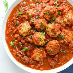 Healthy Saucy Chicken MeatballsFollow for recipesGet your  Mein Blog: Alles rund um Genuss & Geschmack  Kochen Backen Braten Vorspeisen Mains & Desserts!