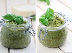 Pesto Mandeln grün grünes vegetarisch Rezept schnell Basilikum
