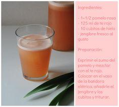 Bebida depurativa de pomelo y te rojo