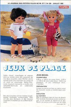 ❤ Page originale, poupée Marie Françoise et J.M MODES ET TRAVAUX, juillet 1982 ❤