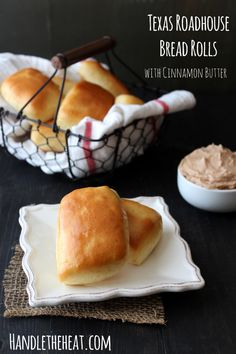 Texas Roadhouse Bread Rolls with Cinnamon Butter from Handletheheat.com @Handle the Heat | Tessa Arias