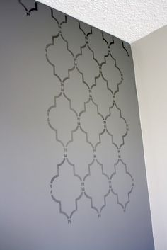 DIY wall stencil for accent wall. I can't wait to do this to our room!