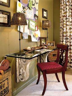 love this idea for a desk!