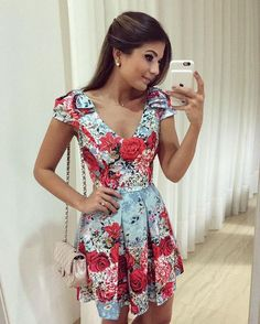 Outfit with white bags of the brand Chanel Lady Like, Casual Dresses, Short Dresses, Summer Dresses, Skirt Fashion, Fashion Dresses, Jw Mode, Dress Skirt, Dress Up