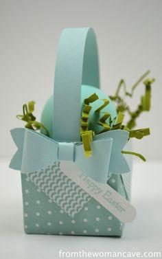 Baskets made using gift box punch board