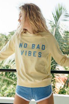 No Bad Vibes Sweatshirt | Spiritual Gangster