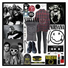 """Nirvana"" by fandoms-obsessed ❤ liked on Polyvore featuring MANGO, Converse, ELSE, Smashbox, Chanel and Nasty Gal"