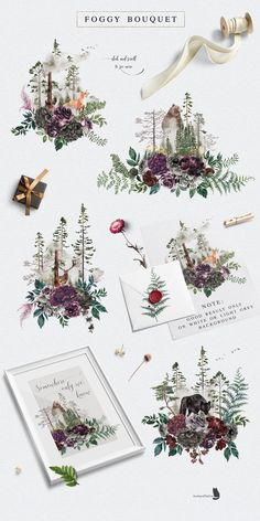 Into the Wild is an collection inspired by nature, with gorgeous flowers and the beauty of pine woodland. Let's every Wild Alphabet bring you to another forest scene. Just imagine! This huge set was created for you to design so many thing you want. Watercolor Flowers, Watercolor Paintings, Watercolors, Watercolor Wolf, Clip Art, Floral Bouquets, Paper Texture, Watercolor Illustration, Bunt