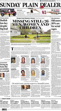 Missing still: 76 men, women and children. May 4, 2014. #cleveland