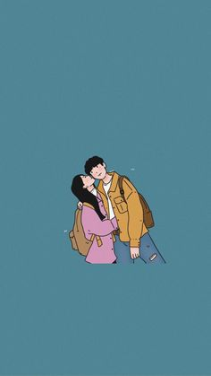 Cute Couple Drawings, Cute Little Drawings, Cute Couple Art, Anime Couples Drawings, Cute Drawings, Cute Couple Wallpaper, Cute Patterns Wallpaper, Cute Wallpaper Backgrounds, Cute Cartoon Wallpapers