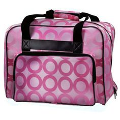 Janome Sewing Machine Tote Bag in Pink with Pink Pattern