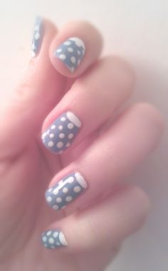 Reverse tip with polka dots. Simple yet adorable!