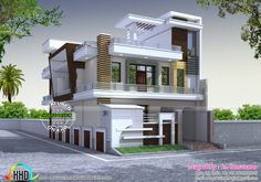 modern style home kerala design and floor plans feet plot size square yards gharexpert