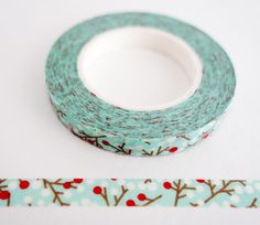Red Snow Berries - Thin Washi Tape Tapas, Washi Tape Storage, Mt Tape, Things I Need To Buy, Decorative Tape, Craft Supplies, Office Supplies, Wishing Well, Doodle Art