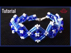 (14) Crystals And Bugle Beads Bracelet - Tutorial - YouTube
