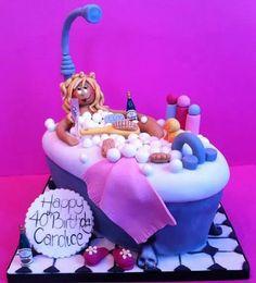 Lovely Lady Bathing Cake Ideas