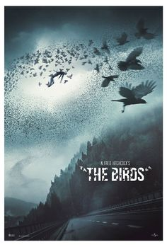 Alfred Hitchcock - The Birds 1980's Movies, Scary Movies, Horror Movies, 3d Film, Film Movie, Psycho Wallpaper, Hd Wallpaper, Alfred Hitchcock The Birds, Bird Poster