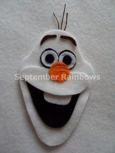 Olaf felt patch