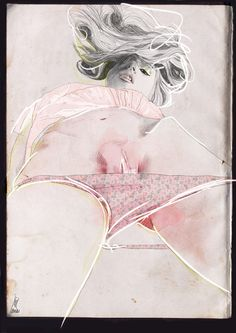 pink by Laura King, via Behance