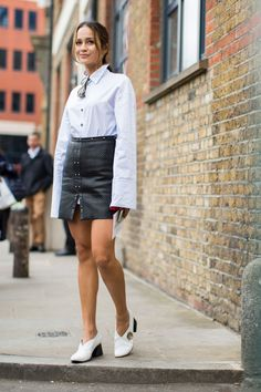 London Fashion Week SS17 Street Style from InStyle.com