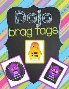 Looking for a way for your kiddos to show their dojo rewards? Use these dojo king and queen tags! I let the boy and girl who have the highest points for the day wear them but you can do them whatever way works for your class. Kindergarten Behavior, Classroom Behavior, Classroom Setup, Classroom Organization, Classroom Incentives, Behavior Incentives, Behavior Management, Classroom Management, Class Management