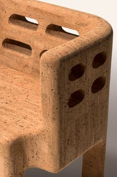 Brazilian design duo Humberto and Fernando Campana have launched a collection of furniture consisting of an armchair and three cabinets made almost entirely from cork. Sustainable Furniture, Sustainable Design, Sustainable Living, Sustainable Products, Cork Material, Material Design, Bespoke Furniture, Furniture Design, Brothers Furniture