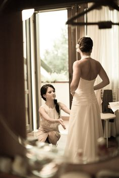 My wedding dress back side..