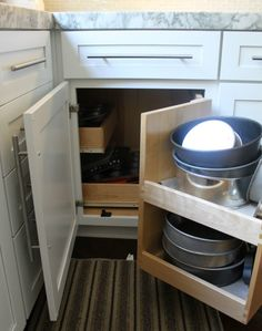 l shaped corner cabinet - kitchen cabinet ideas & How To Build Pull Out Shelves For a Blind Corner Cabinet Part 1 ...