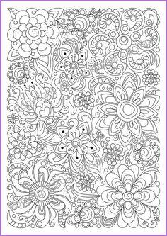 Abstract Doodle Zentangle Coloring pages colouring adult detailed advanced printable Kleuren voor volwassenen coloriage pour adulte anti-stress kleurplaat voor volwassenen Adults and children Coloring page PDF printable by ZentangleHouse: