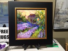 a floater frame on one of my paintings from randy higbees king of