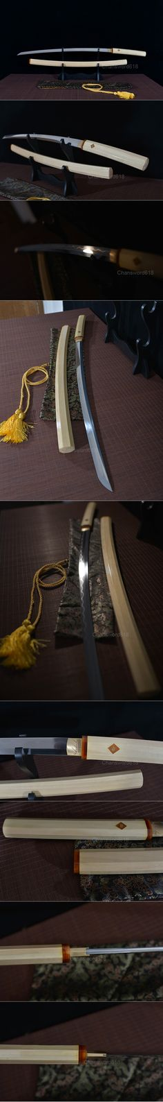 shirasaya Samurai Weapons, Katana Swords, Japanese Blades, Japanese Sword, Swords And Daggers, Knives And Swords, Sword Design, Cold Steel, Sword Art