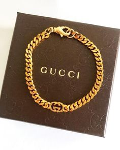 Back in stock- this simple repurposed Gucci bracelet is perfect for layering with your favorite watch, bangle, etc. We only have ONE left 🚨… Gucci Bracelet, Gucci Jewelry, Luxury Jewelry, Jewelery, Jewelry Necklaces, Bracelets, Cute Jewelry, Body Jewelry, Vintage Jewelry