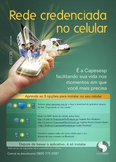 Anúncio de mídia impressa para o Capesesp - Caixa de Previdência e Assistência dos Servidores da Fundação Nacional de Saúde.