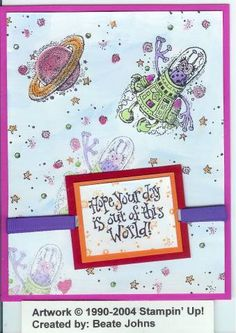 Flying away. Beate using Stampin Up Out of This World retired stamp set.