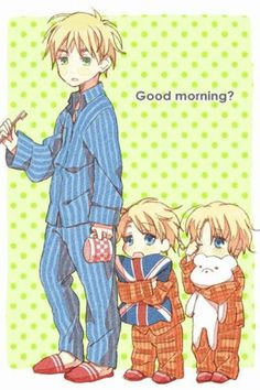My teacher once said that America and Canada are like England's kids. He didn't know about Hetalia fans and their fanart. <<wow