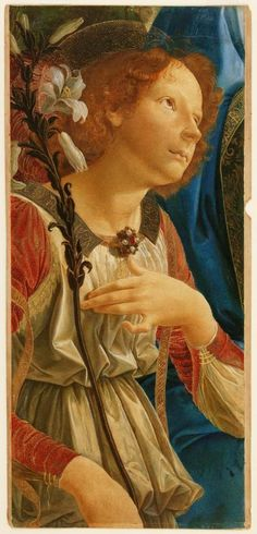 Study of The Angel Gabriel, from 'Virgin and Child With Two Angels', After Verrocchio : Museums Sheffield (England)  Everything Ruskin included in his collection in Sheffield was given with a set purpose to educate and inspire.