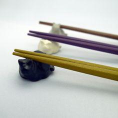 ねこの箸置き|くろ|Cat Chopstick rest