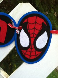 Personalized Felt Spiderman Boys Name Banner by triobyn on Etsy, $31.00