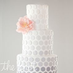 Wedding Cakes Grey Ombre Polka Dot Cake via Fab Day. - For inspiration for a fab polka dot wedding cake, we've rounded up some cool ideas in every shape in size. Gorgeous Cakes, Pretty Cakes, Amazing Cakes, Wedding Cake Designs, Wedding Cakes, Fondant Cakes, Cupcake Cakes, Polka Dot Cakes, Polka Dots