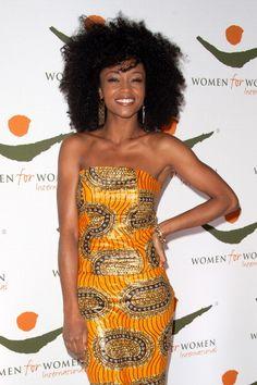 divalocity:    Frostastic: Yaya DaCosta attends the 2012 Women For Women International gala.