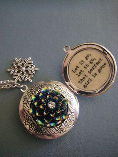 Frozen Inspired Locket Necklace Let it go that perfect girl is gone gift for her teen tween frozen fan on Etsy, $31.00: