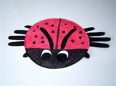 Paper plate Ladybug. The legs are the kids' hands.