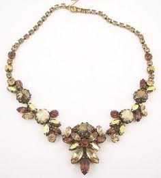 Vintage Regency Rhinestone Necklace by WearableArt on Etsy