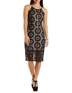 Bodycon Lace Midi Dress charlotterusse #charlottelook