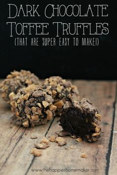 easy dark chocolate toffee truffles