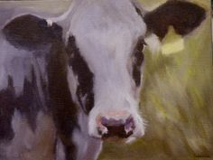 Ivy The Holstein Cow Oil Painting by PoeticPaintings on Etsy