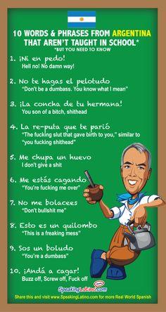 Naughty phrases in spanish