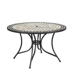 Shop a great selection of Marble Top Round Outdoor Dining Table Home Styles. Find new offer and Similar products for Marble Top Round Outdoor Dining Table Home Styles. Round Outdoor Dining Table, Metal Dining Table, Metal Side Table, Patio Table, Glass Table, Patio Dining, Black Marble Tile, Marble Top, Marble Tiles