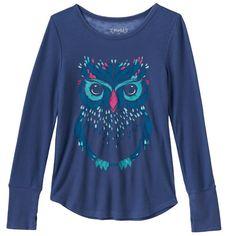 Girls 7-16 & Plus Size Mudd® Thumbhole Long Sleeve Thermal Graphic Tee, Girl's, Size: